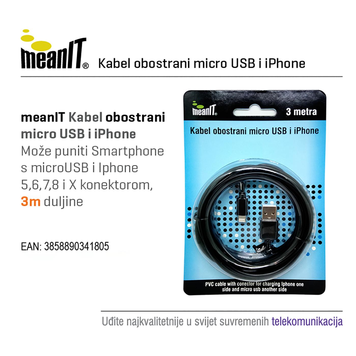KABEL MICROUSB / iPHONE