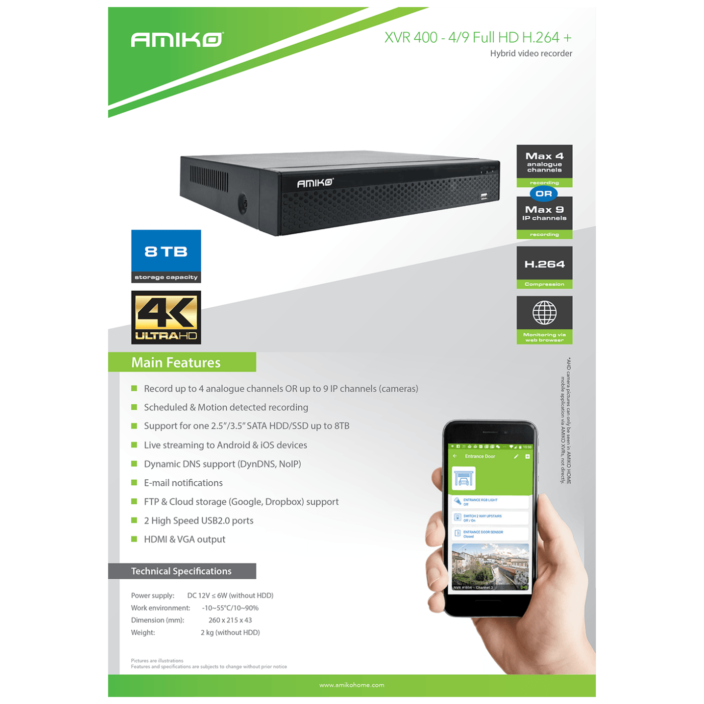 XVR 400 - 4/9 FULL HD H.264+