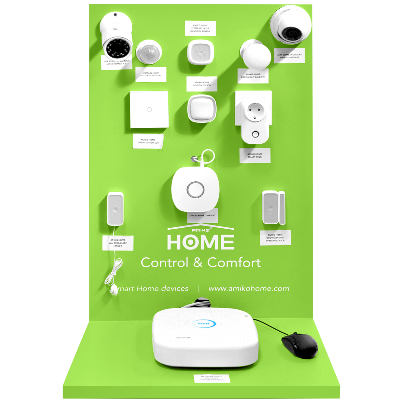 Amiko Home - DISPLAY L Wall SmartHome